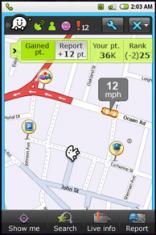 Скриншот к файлу: Waze [Android OS] - Бесплатная GPS-навигация + социальная сеть автомобилистов