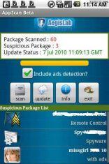 Скриншот к файлу: AppScan Beta - антивирус