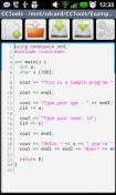 Скриншот к файлу: CCTools – CC++IDE для Андроида [1.13]